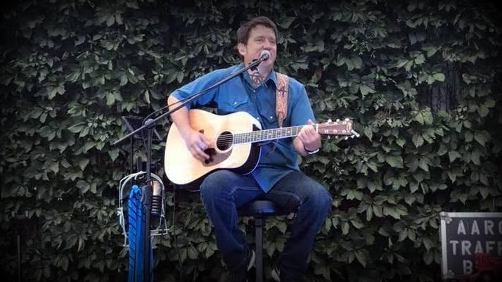 Aaron Traffas playing Meet Me at the Corner in Stilwell, Kansas